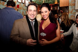 CBS Sports Anchor Steve Overmyer with Veronica at her NYC shower