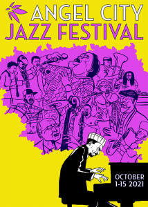 Angel City Jazz Festival 2021 Illustrated Poster